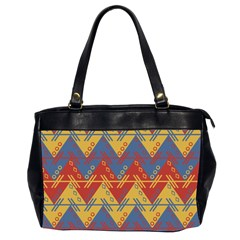 Aztec South American Pattern Zig Zag Office Handbags (2 Sides)