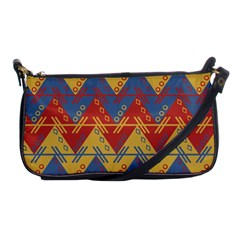 Aztec South American Pattern Zig Zag Shoulder Clutch Bags