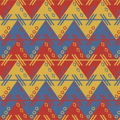 Aztec South American Pattern Zig Zag Magic Photo Cubes