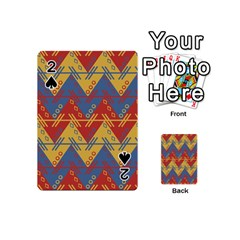 Aztec South American Pattern Zig Zag Playing Cards 54 (Mini)