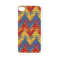 Aztec South American Pattern Zig Zag Apple iPhone 4 Case (White)