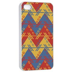 Aztec South American Pattern Zig Zag Apple iPhone 4/4s Seamless Case (White)