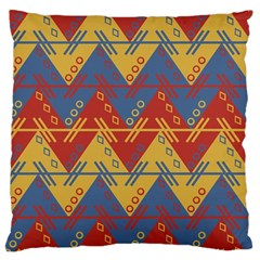 Aztec South American Pattern Zig Zag Large Cushion Case (two Sides)