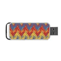 Aztec South American Pattern Zig Zag Portable Usb Flash (one Side)