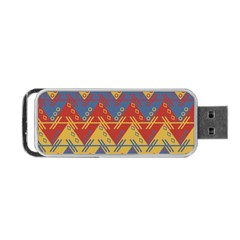 Aztec South American Pattern Zig Zag Portable USB Flash (Two Sides)
