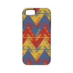 Aztec South American Pattern Zig Zag Apple Iphone 5 Classic Hardshell Case (pc+silicone)