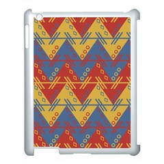 Aztec South American Pattern Zig Zag Apple iPad 3/4 Case (White)