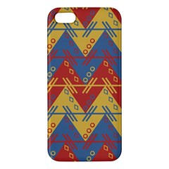 Aztec South American Pattern Zig Zag Apple Iphone 5 Premium Hardshell Case