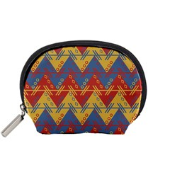Aztec South American Pattern Zig Zag Accessory Pouches (small)