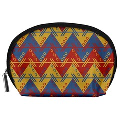 Aztec South American Pattern Zig Zag Accessory Pouches (large)