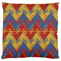 Aztec South American Pattern Zig Zag Large Flano Cushion Case (two Sides)