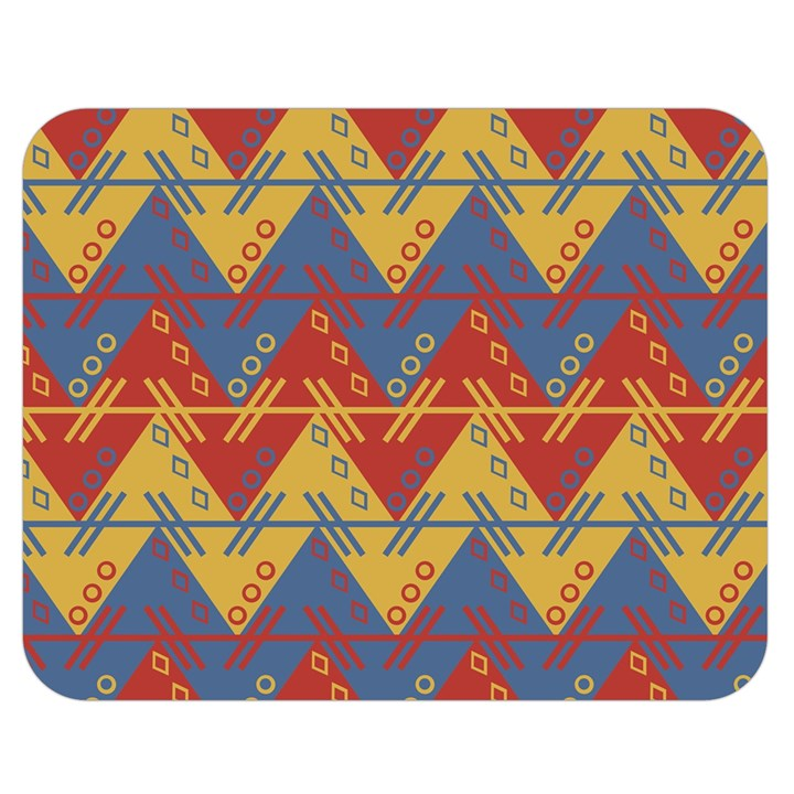 Aztec South American Pattern Zig Zag Double Sided Flano Blanket (Medium)