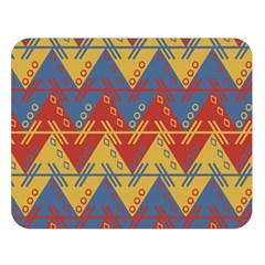 Aztec South American Pattern Zig Zag Double Sided Flano Blanket (large)