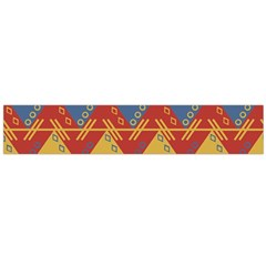 Aztec South American Pattern Zig Zag Flano Scarf (large)