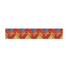 Aztec South American Pattern Zig Zag Flano Scarf (mini)