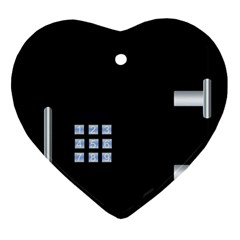 Safe Vault Strong Box Lock Safety Ornament (heart)