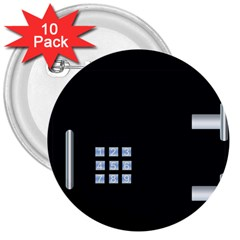 Safe Vault Strong Box Lock Safety 3  Buttons (10 Pack)