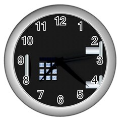 Safe Vault Strong Box Lock Safety Wall Clocks (Silver)