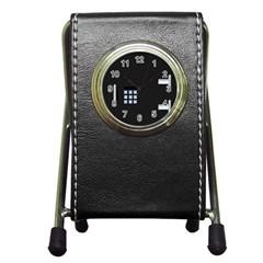 Safe Vault Strong Box Lock Safety Pen Holder Desk Clocks