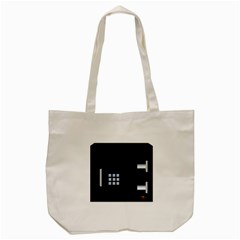 Safe Vault Strong Box Lock Safety Tote Bag (cream)