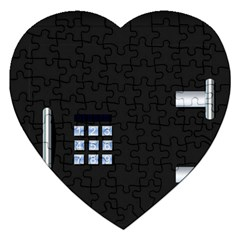 Safe Vault Strong Box Lock Safety Jigsaw Puzzle (heart)