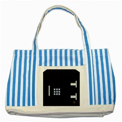 Safe Vault Strong Box Lock Safety Striped Blue Tote Bag