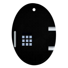 Safe Vault Strong Box Lock Safety Oval Ornament (Two Sides)