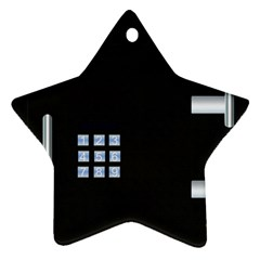 Safe Vault Strong Box Lock Safety Star Ornament (Two Sides)