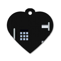 Safe Vault Strong Box Lock Safety Dog Tag Heart (two Sides)