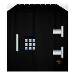 Safe Vault Strong Box Lock Safety Shower Curtain 66  X 72  (large)