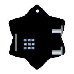 Safe Vault Strong Box Lock Safety Ornament (Snowflake)