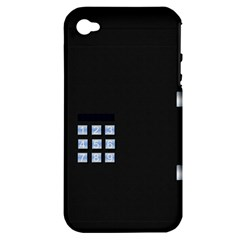 Safe Vault Strong Box Lock Safety Apple iPhone 4/4S Hardshell Case (PC+Silicone)