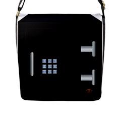 Safe Vault Strong Box Lock Safety Flap Messenger Bag (l)