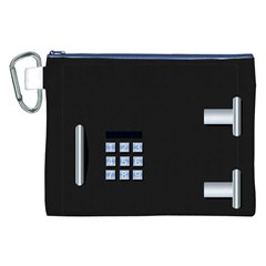 Safe Vault Strong Box Lock Safety Canvas Cosmetic Bag (XXL)