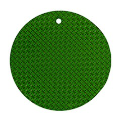 Paper Pattern Green Scrapbooking Ornament (round)