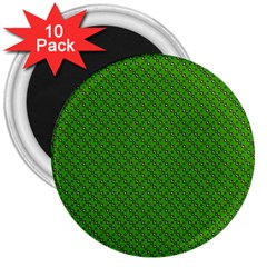 Paper Pattern Green Scrapbooking 3  Magnets (10 pack)