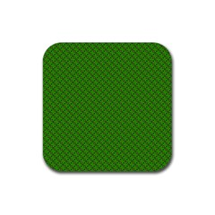 Paper Pattern Green Scrapbooking Rubber Square Coaster (4 pack)