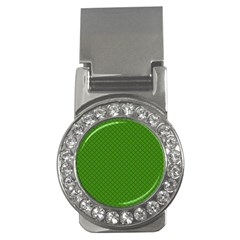 Paper Pattern Green Scrapbooking Money Clips (CZ)