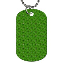 Paper Pattern Green Scrapbooking Dog Tag (two Sides)