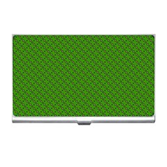 Paper Pattern Green Scrapbooking Business Card Holders