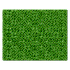 Paper Pattern Green Scrapbooking Rectangular Jigsaw Puzzl
