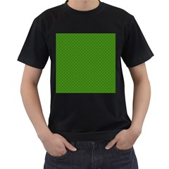 Paper Pattern Green Scrapbooking Men s T-Shirt (Black) (Two Sided)