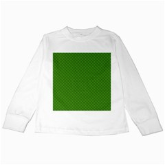 Paper Pattern Green Scrapbooking Kids Long Sleeve T-Shirts