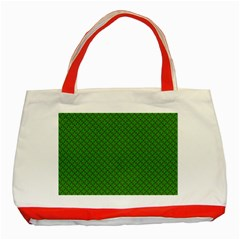 Paper Pattern Green Scrapbooking Classic Tote Bag (red)