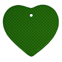 Paper Pattern Green Scrapbooking Heart Ornament (two Sides)