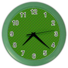 Paper Pattern Green Scrapbooking Color Wall Clocks