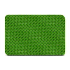 Paper Pattern Green Scrapbooking Plate Mats