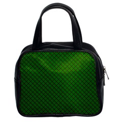 Paper Pattern Green Scrapbooking Classic Handbags (2 Sides)