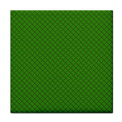 Paper Pattern Green Scrapbooking Face Towel