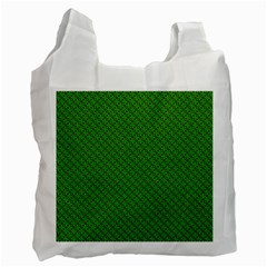 Paper Pattern Green Scrapbooking Recycle Bag (Two Side)